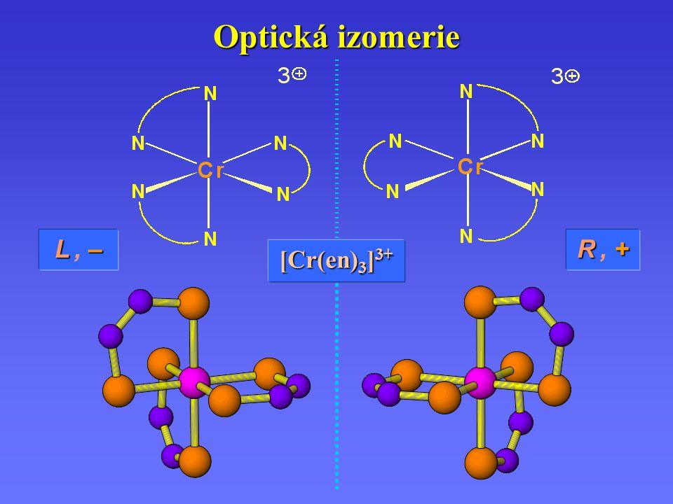Optická izomerie L , – R , + [Cr(en)3]3+